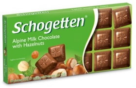 Шоколад Schogetten  Alpine Milk Chocolate with Hazelnuts